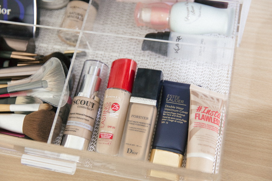 How to organise your makeup.