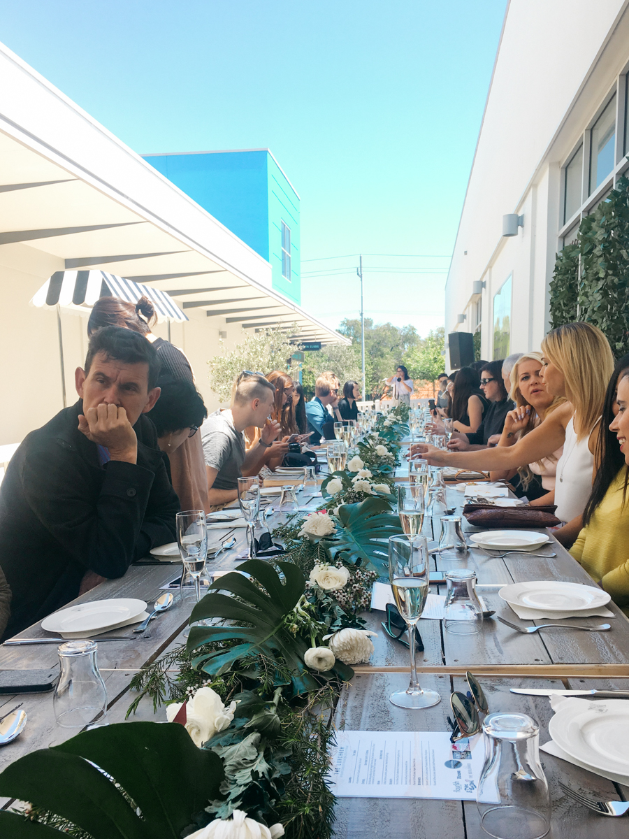 Summer Long Table Luncheon at Floreat Forum.