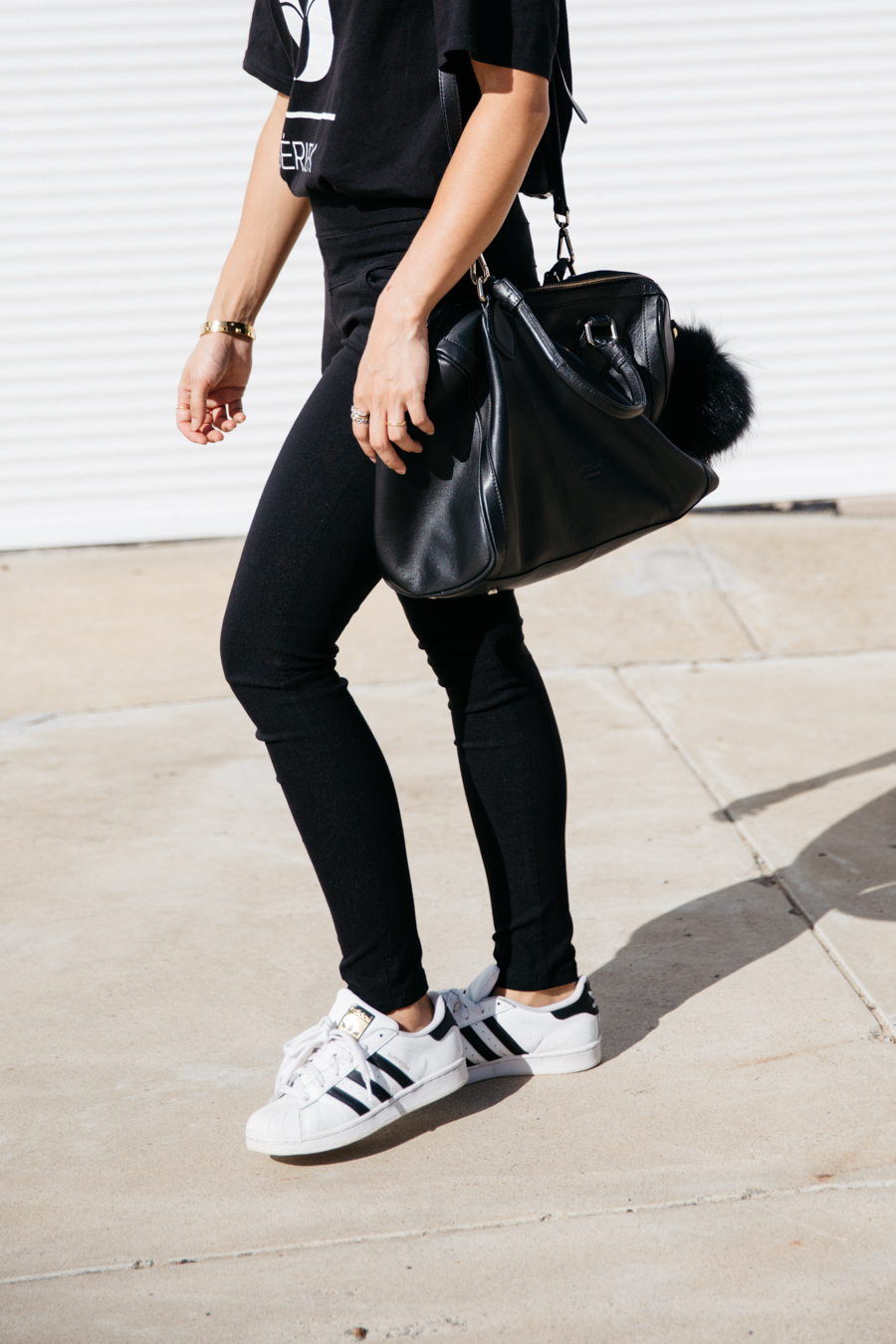 Best black leather bag.