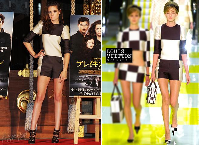 Kristen Stewart em Louis Vuitton | 'A Saga Crepúsculo: Amanhecer - Parte 2' Evento Fan Tóquio