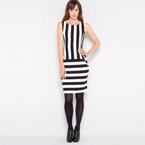 stripe print dress