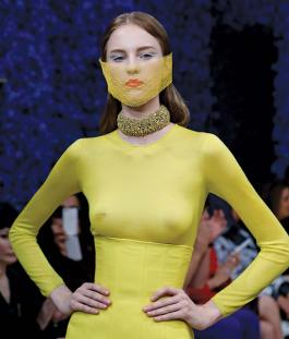 A look from the Dior Couture collection, Spring Summer 2013