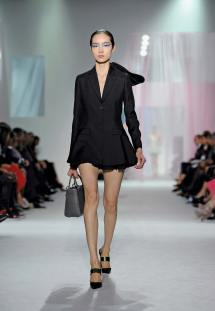 A look from Raf Simons' debut Ready to Wear collection for Dior