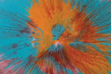Damien-Hirst-Beautiful-Juicy-Orange-Splattered-All-Over-a-Sumptuous-Blue-I-Feel-Naughty-Painting-2006-a4