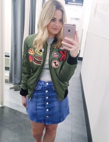 bomber and skirt