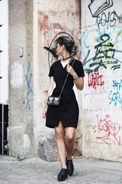 thefashionanarchy_fashionblog_modeblog_styleblog_outfit_look_inspiration_andotherstories_karllagerfeld_tasche_schwarz_kleid_grauehaare_munich_muenchen_fashionweeK_mbfw_berlin_streetstyle_1
