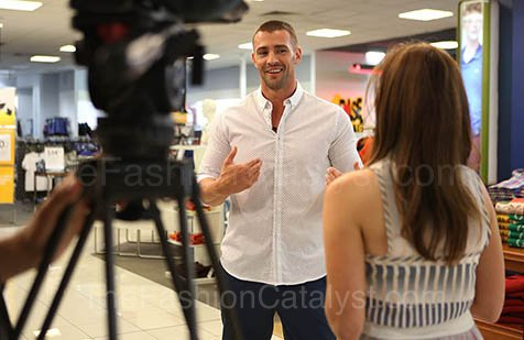Behind The Scenes With Kris Smith And Channel 7 At Myer
