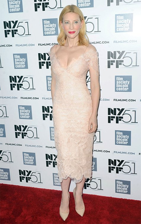 Cate Blanchett Wears Giorgio Armani Privè To The 51st New York Film Festival