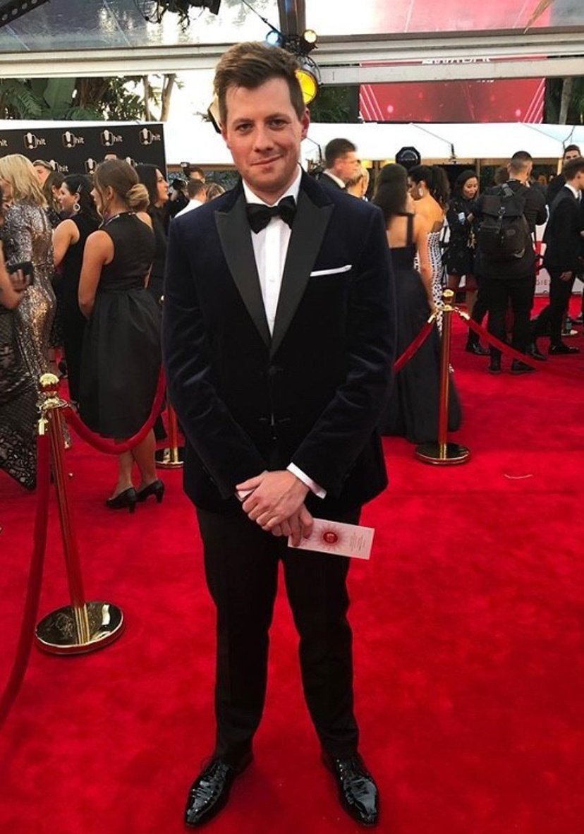 Tosh Greenslade wearing Joe Black 2019 Logie Awards