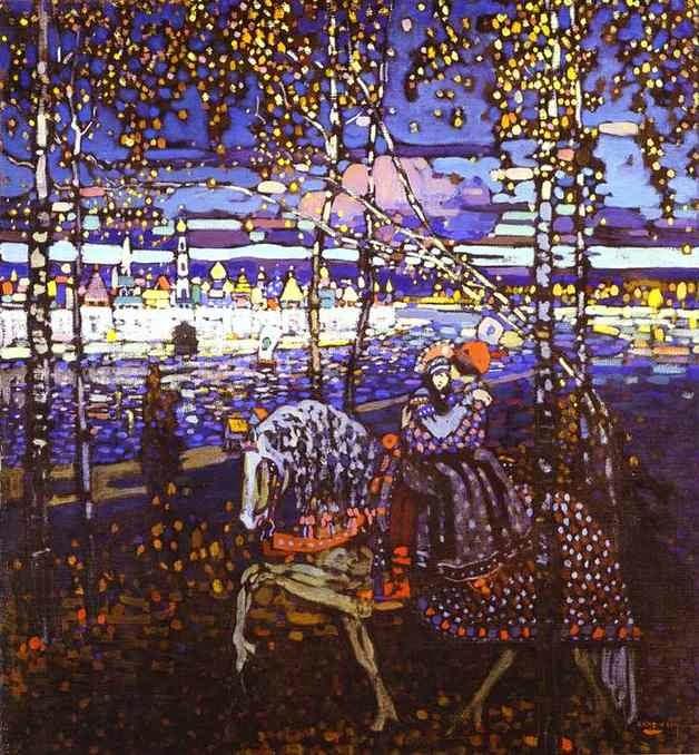 kandinsky-couple-riding-black-and-violet-wassily-kandinsky-1906