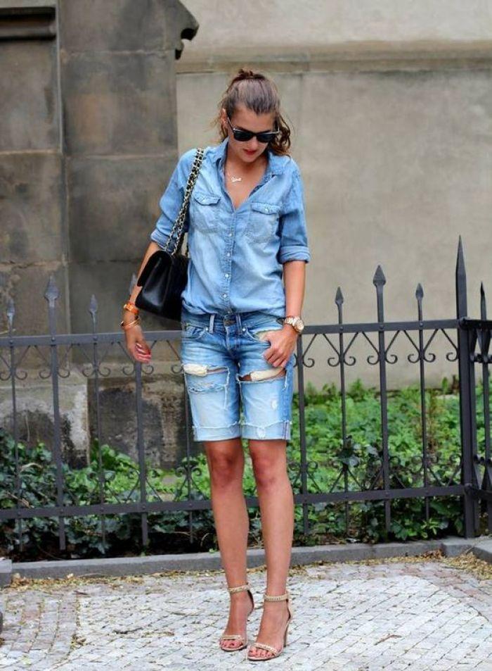 double denim fashion