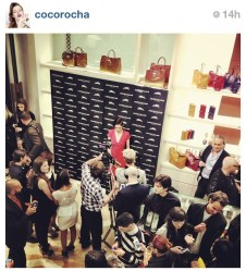 "Coco Rocha au/at ""Longchamp Inmotion party"""
