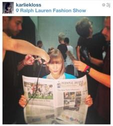 Karlie Kloss aux backstage de Ralph Lauren / Karlie Kloss backstage at Ralph Lauren