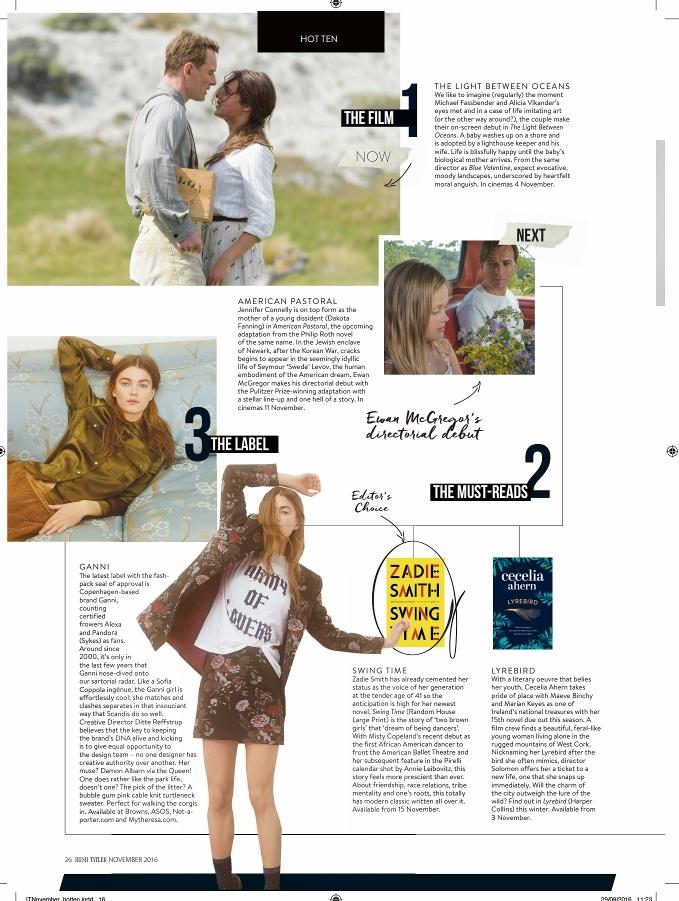 Mary Cate Smith Irish Tatler magazine