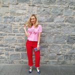 Ruffle trousers, three ways
