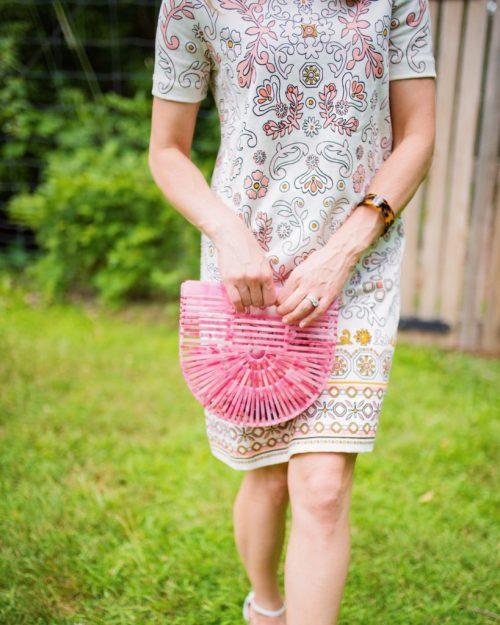 Cult gaia pink bag