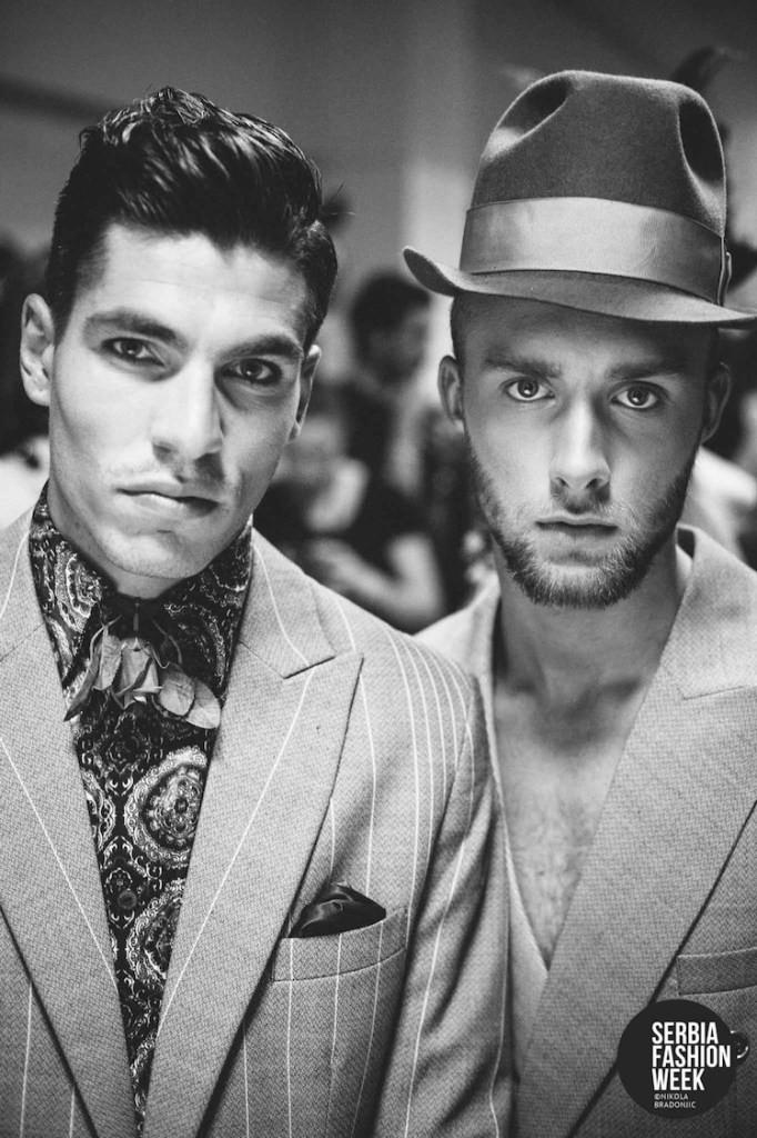 Backstage at Florin Dobre Spring/Summer 2015