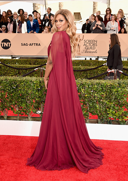 LOS ANGELES, CA - JANUARY 30: Actress Laverne Cox attends The 22nd Annual Screen Actors Guild Awards at The Shrine Auditorium on January 30, 2016 in Los Angeles, California. 25650_015 ()