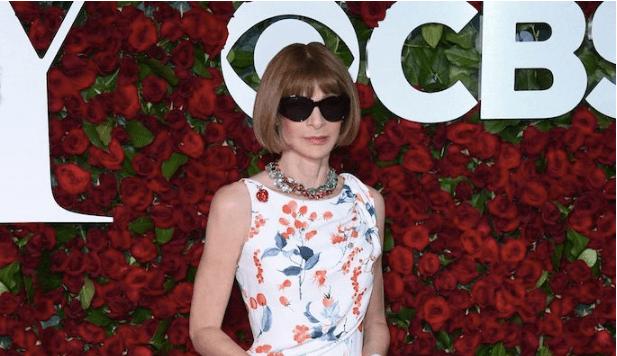 ANNA WINTOUR WEARS SCHIAPARELLI HAUTE COUTURE TO 70th TONY AWARDS