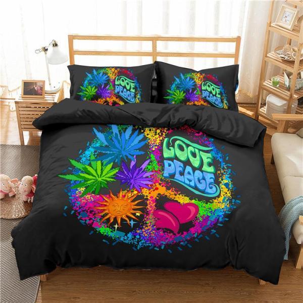 Boniu 3d Luxury Bedding Sets Geometric Print Duvet Cover Pillowcase 3pcs Twin Queen King Size Bed Clothes For Home - thefashionique