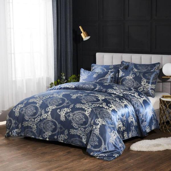 Jacquard Duvet Cover Set Bedding Set Quilt Cover Pillowcase Europe America King Queen Size No - thefashionique