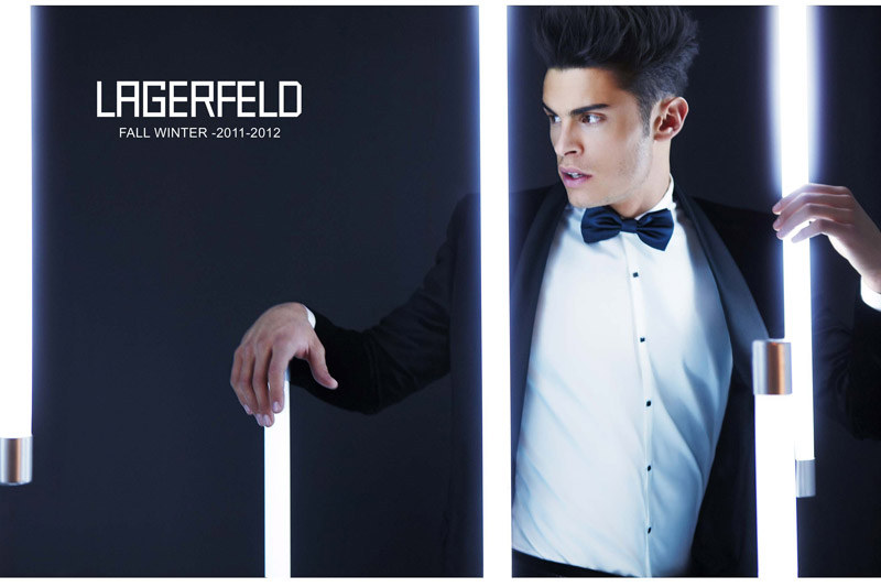 lagerfeldfall2 Baptiste Giabiconi for Lagerfeld Fall/Winter 2011