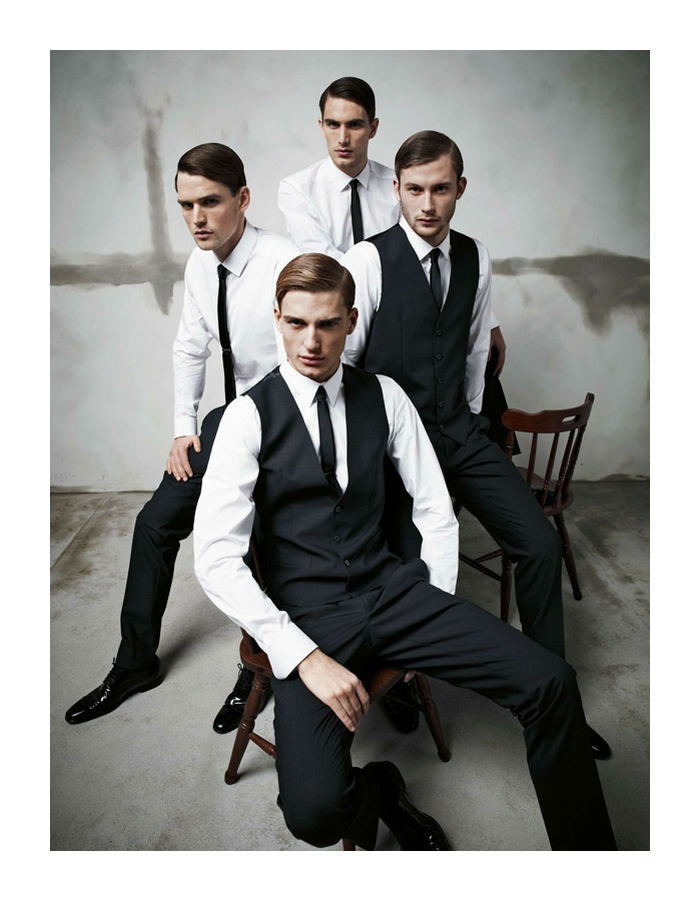 dgcollection1 Arthur Kulkov, Sam Webb, Antonio Navas & Julien Quevenne by Mariano Vivanco for Dolce & Gabbana Fall 2011