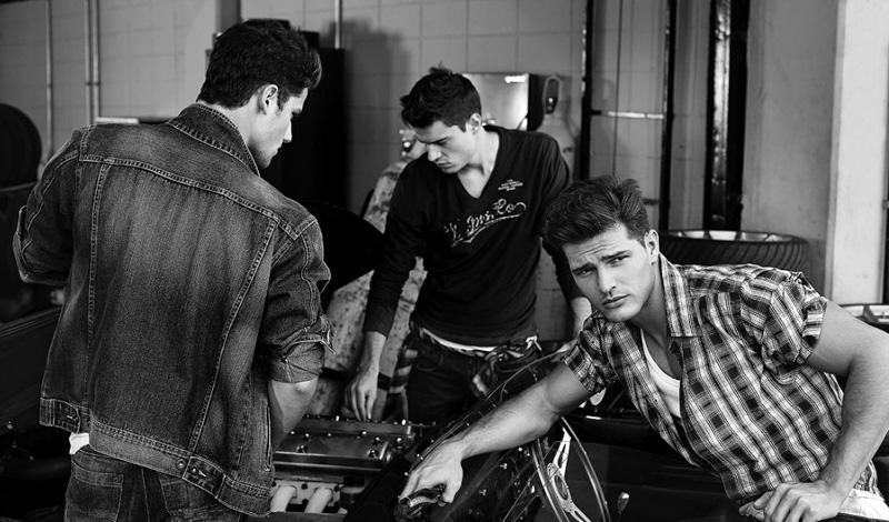 6 Arthur Sales, Diego Miguel, Jean Carlos &  Jordão Altmann by Cristiano Madureira for Vila Romana Fall 2011 Campaign