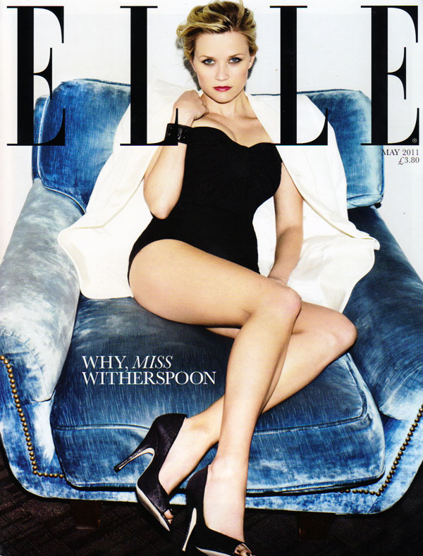 reesecover <em>Elle UK</em> May 2011 Cover | Reese Witherspoon by Ben Hassett