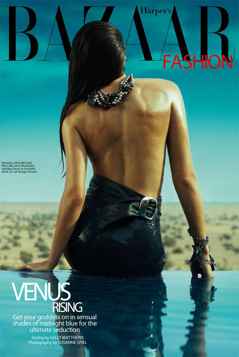 armani1 Vanessa in Giorgio Armani for <em>Harpers Bazaar Arabia</em> April 2011