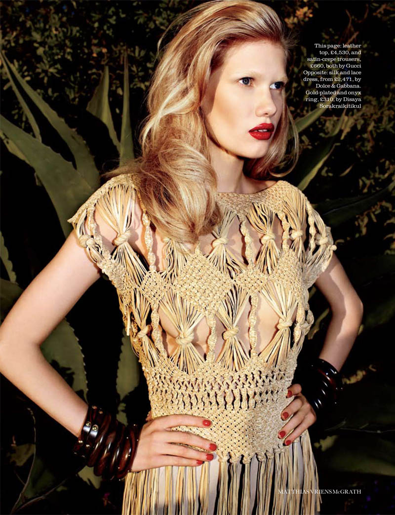 matthias3 Yulia Terentieva by Matthias Vriens McGrath for <em>Elle UK</em> May 2011