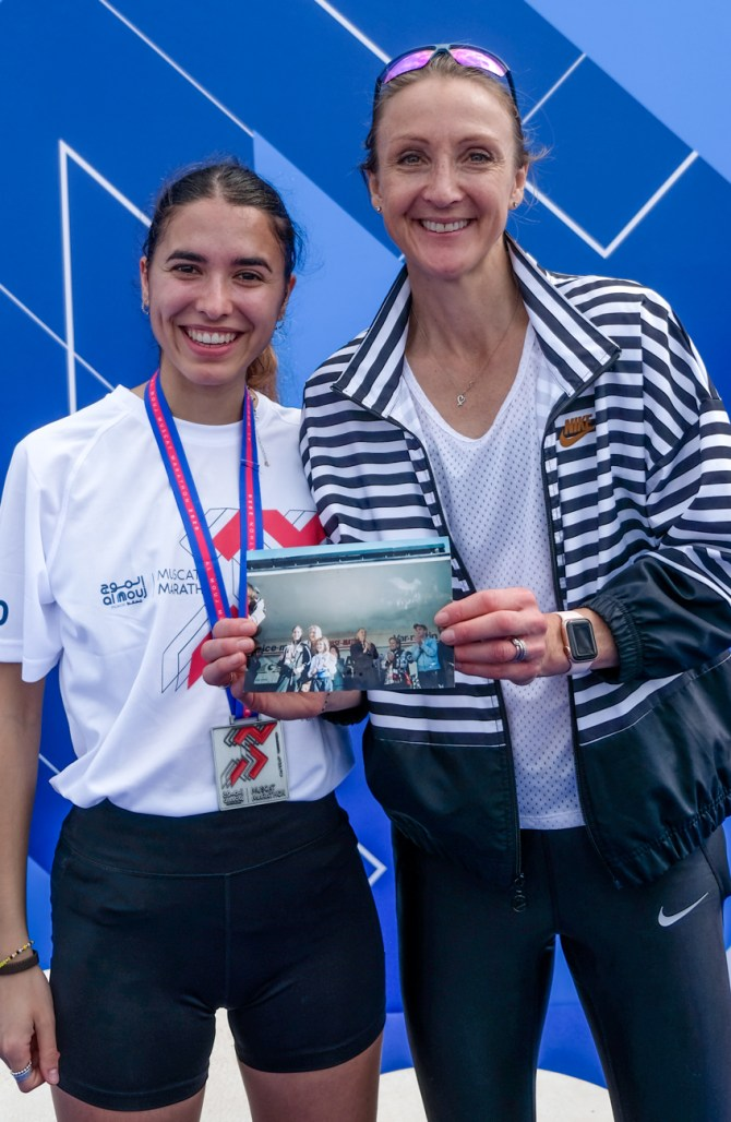 Lisa Migliorini and Paula Radcliffe