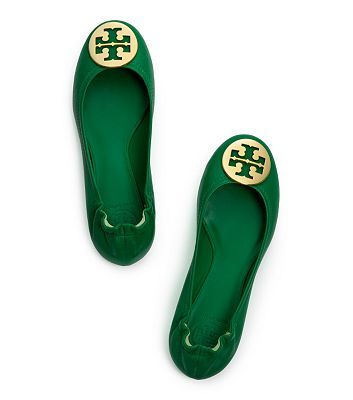 Emerald reva flats by Tory Burch