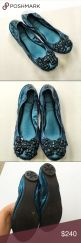 Gorgeous Tory Burch ballet flats. Greenish-blue color