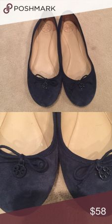 Navy blue Tory burch flats