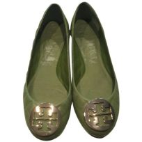 Tory Burch Green Quinn Ballet Flats