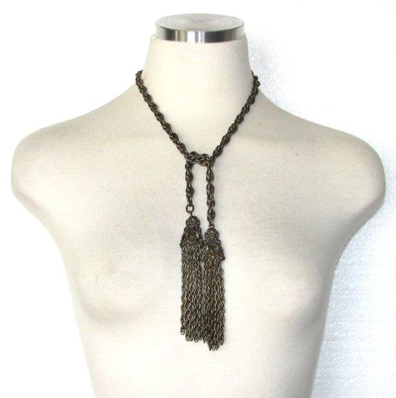 Vintage 60s Tassel Necklace - $35.00