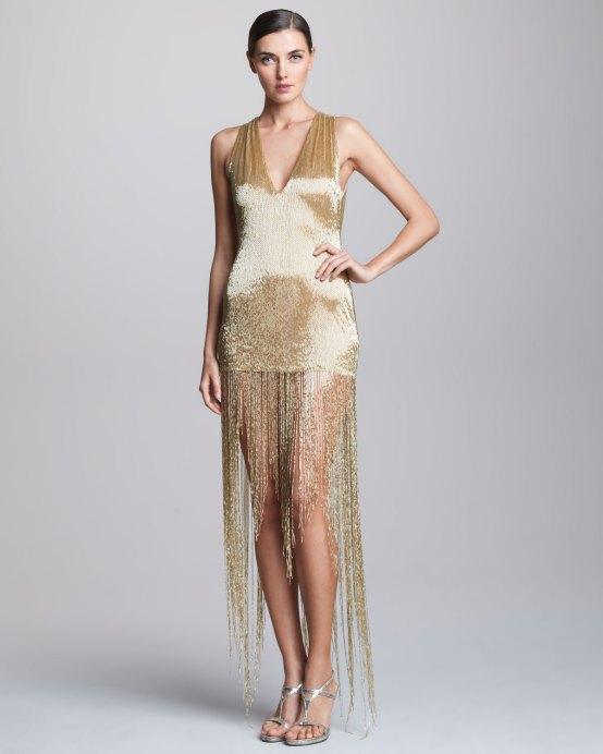 Naeem Khan Sequined Fringe Dress - $4,390.00