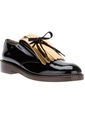 MARNI metallic fringe shoe