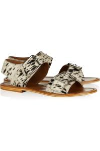 Marni Animal-print calf hair sandals