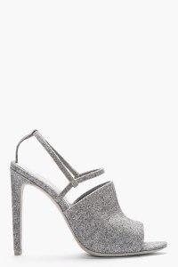 ALEXANDER WANG Grey Wool Slingback Maryna Sandals