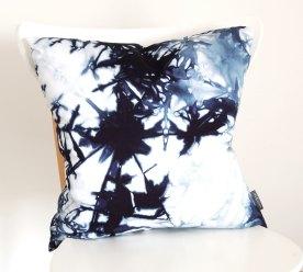 Navy Organic Cotton Shibori Pillow Cover