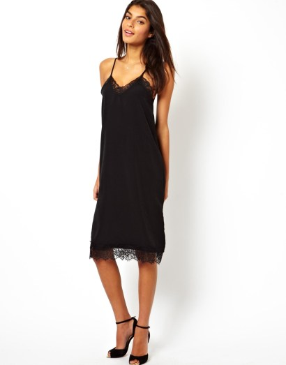 Oh My Love Cami Midi Dress with Eye Lash Lace