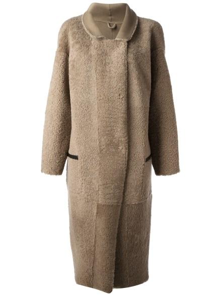 INÈS & MARÉCHAL lamb shearling reversible coat