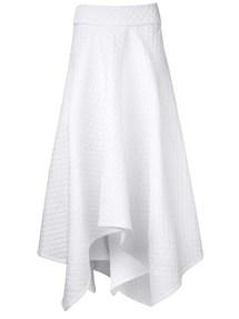 PODOLYAN asymmetrical fold over skirt
