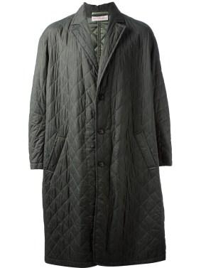 WALTER VAN BEIRENDONCK oversize quilted coat