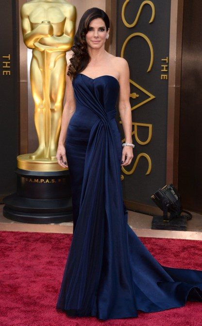 Sandra Bullock in Alexander McQueen