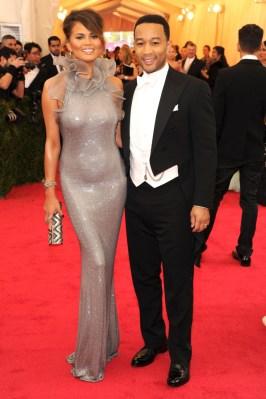 Chrissy Teigen in Ralph Lauren, John Legend