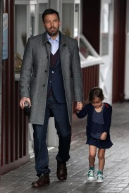 A very well dressed Ben Affleck and Seraphina get a coffee in Brentwood