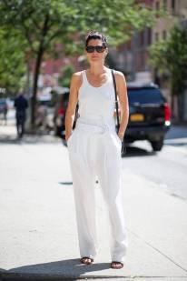 NYFW Streetstyle All White 2